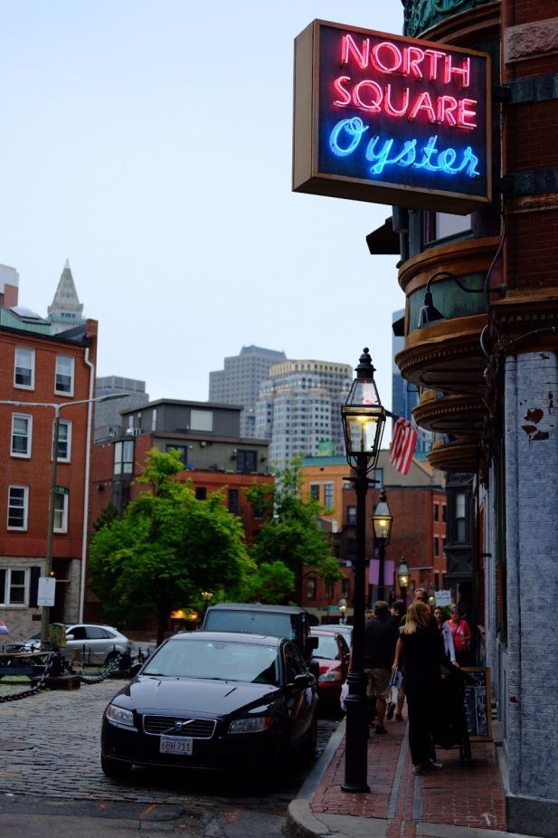 Little Italy with Boston skyline