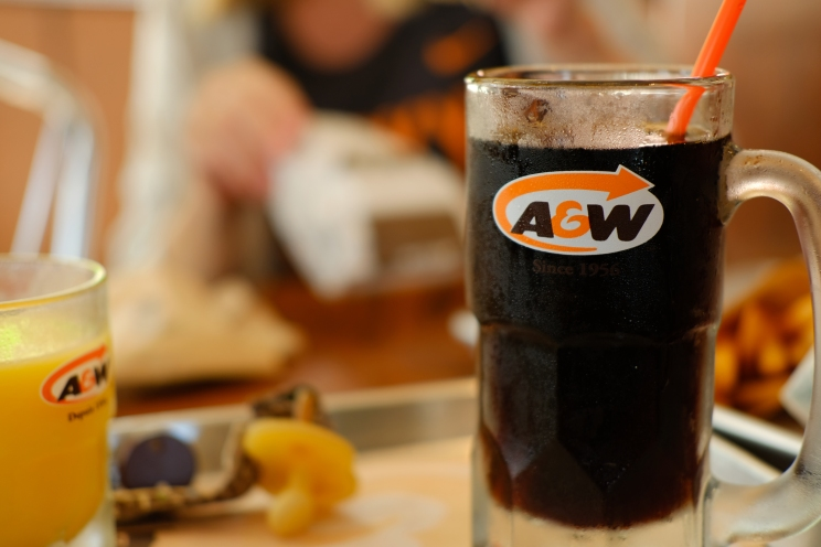 A&W - our favorite Canadian fast food place