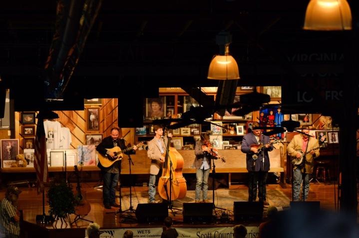 Carson Peters and band at Carter Fold Virginia